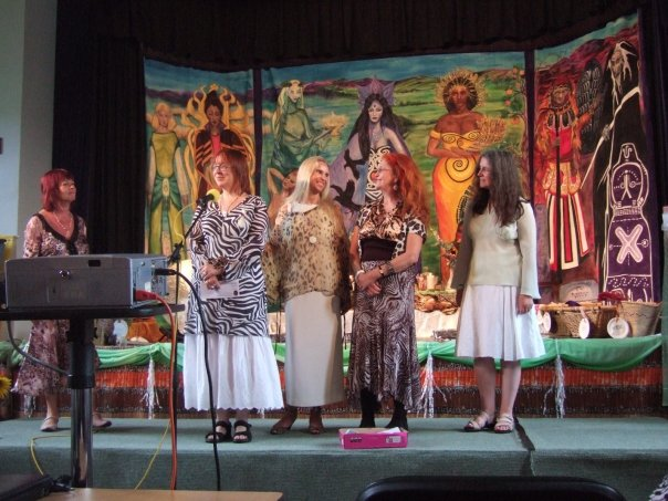 The Goddess weekend opening ceremony.