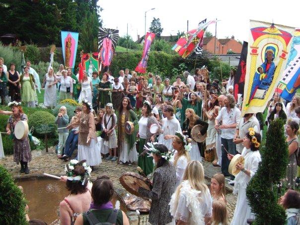 A Pagan procession.
